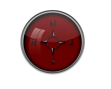 Compass button.