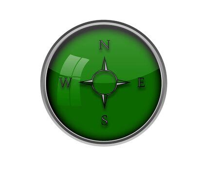 orientate: Compass button.
