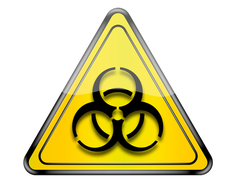 the bacteria signal: Biohazard sign. Stock Photo