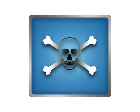 awfully: Skull and Crossbones icon.
