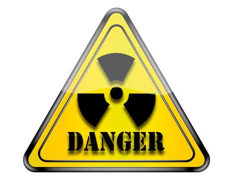 nuclear sign: Nuclear danger sign. Stock Photo