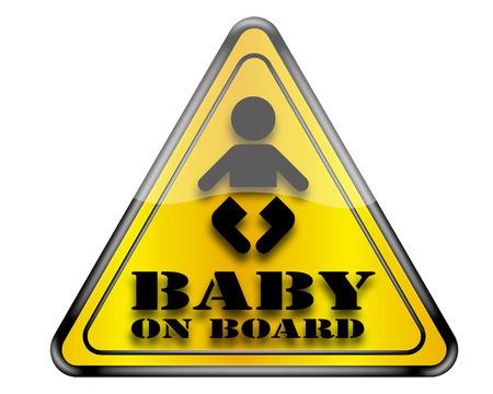 bebe a bordo: Beb� en Muestra de la tarjeta.