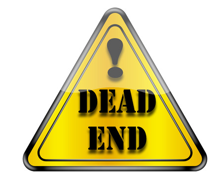 end of road: Dead end road sign.