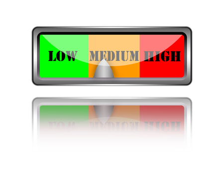 moderate: Low medium and high button.