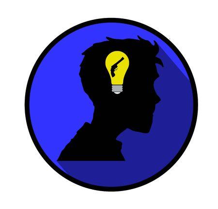 psychiatrist: Depression concept icon.
