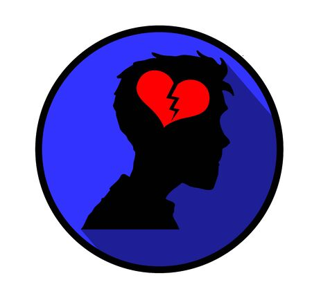 overburdened: Depression concept icon.