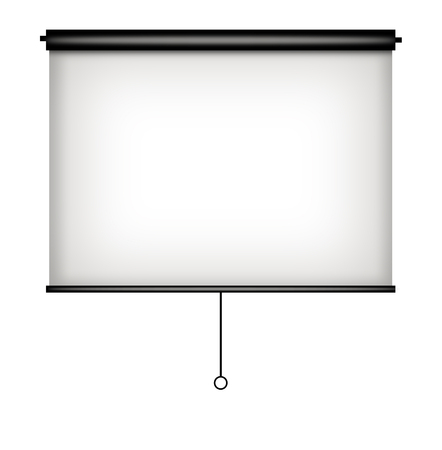Blank projector screen.