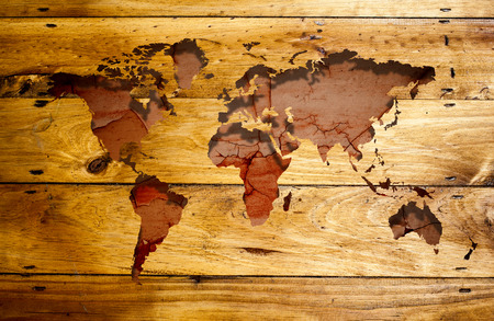 Abstract world map.