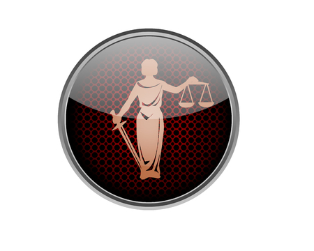 judgement: Justice and judgement button.