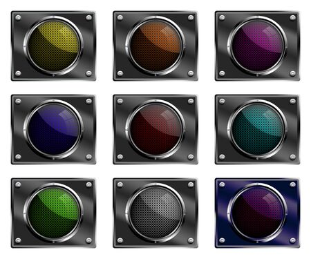 blank button: Blank button illustrations. Stock Photo