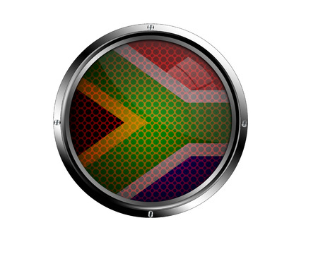 south african flag: South African flag button.