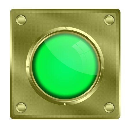 push button: Push button illustration. Stock Photo
