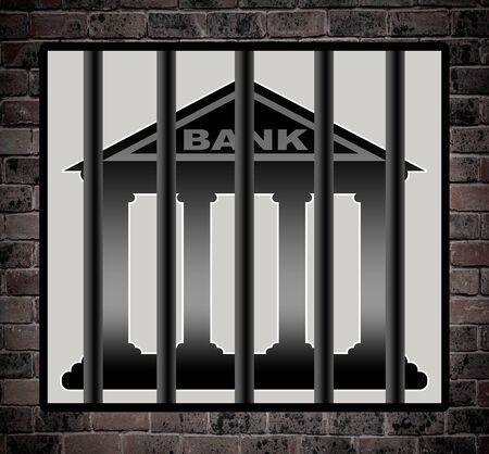 behind bars: Banks behind bars.