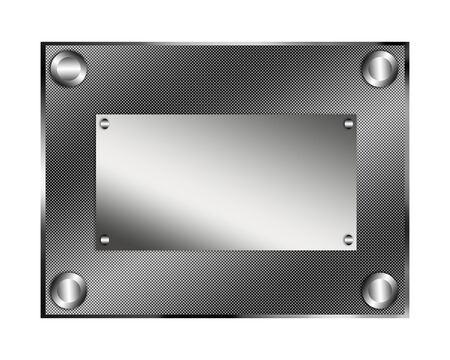 glisten: Steel plate illustration.