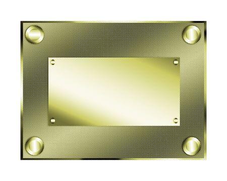 glistening: Gold plate illustration.