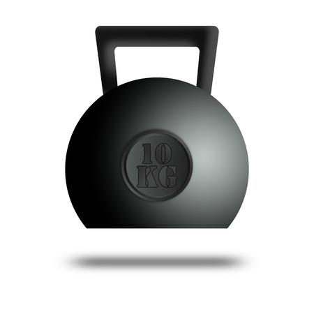Kettle bell weight illustration icon. illustration