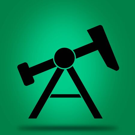 jack pump: Oil jack pump icon.
