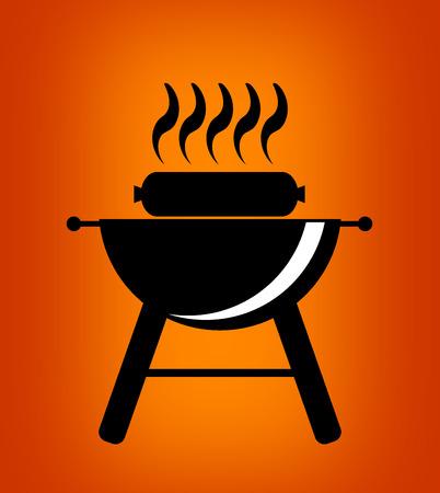 barbecue stove: BBQ icon.