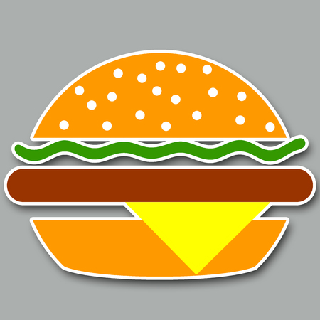 bread roll: Burger illustration.
