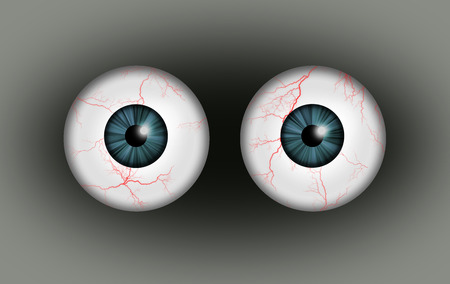 A illustration of a pair of blood shot eyes. Stock Photo