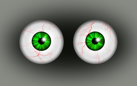 eyes wide open: A illustration of a pair of blood shot eyes. Stock Photo