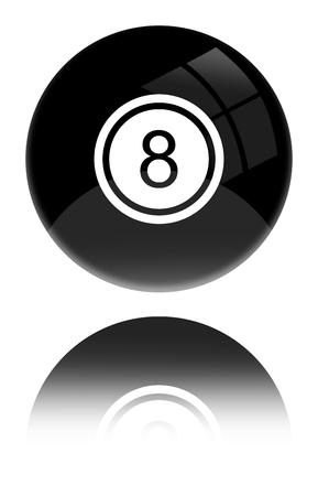 8 ball illustration. Stock Photo