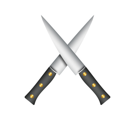 knifes: Two chef knifes.