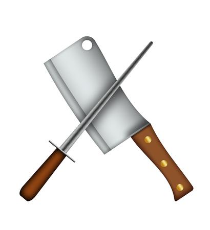 cleaver: Meat Cleaver  Sharpener.