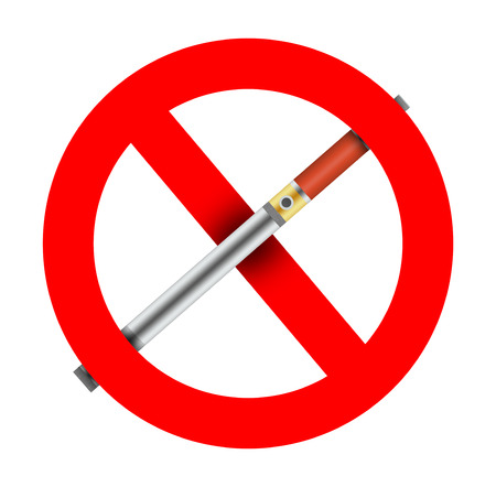 No use or ban of electronic cigarettes.
