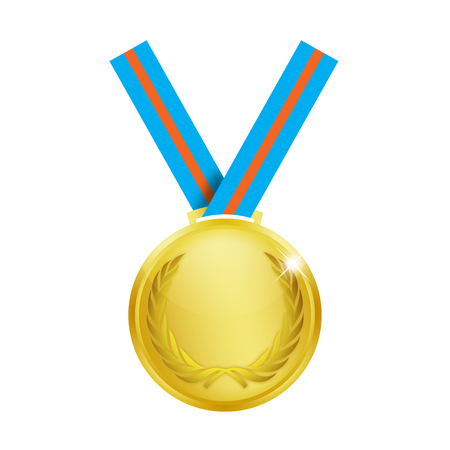 bronze medal: Medal over a white background.