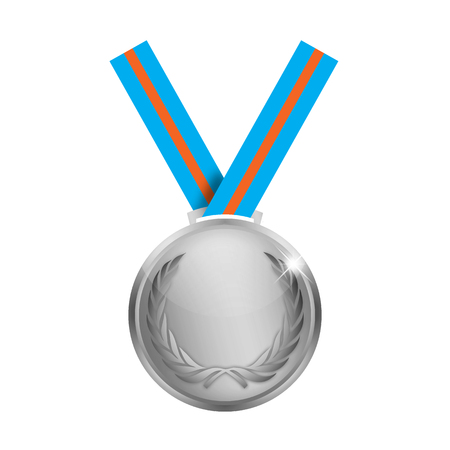 Medal over a white background.