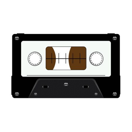 Illustration of a Cassette Tape isolated on a white background. Stock Photo
