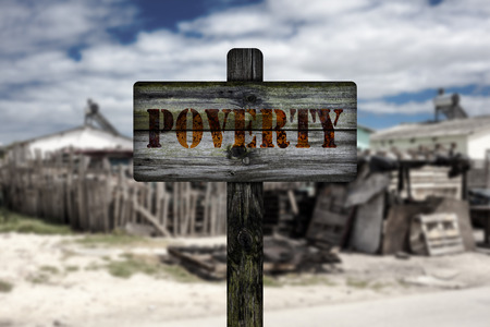 shantytown: Poverty in township.