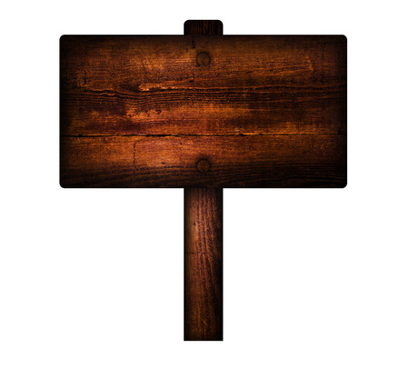 old sign: Old wooden sign. Stock Photo