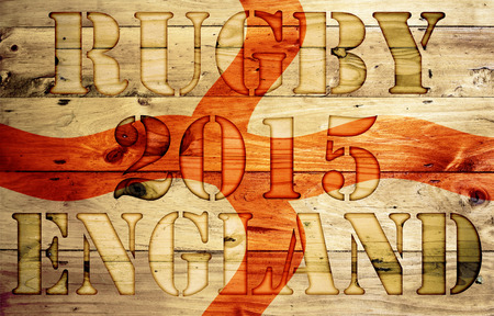 rugger: Abstract Rugby cup wooden background.