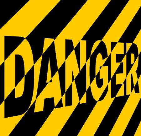 hazardous imperil: Danger sign.