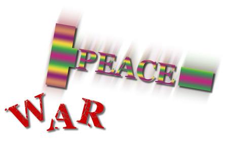 mistrust: War and peace concept.