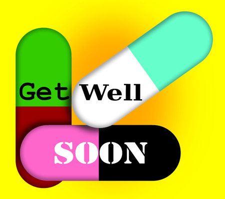 get: Abstract get well soon illustration.