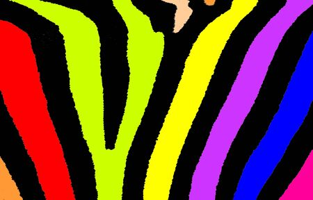 striping: Abstract colourful zebra striping illustration.