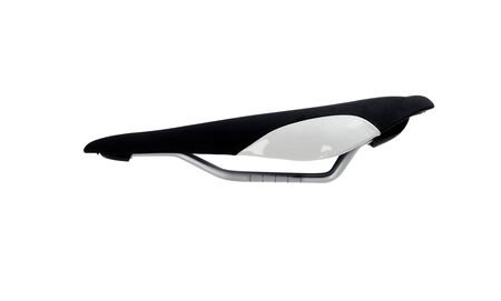 A bicycle seat isolated against a white background. Standard-Bild