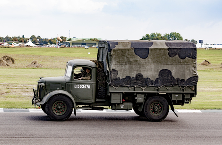 The World War II 75th commemorative parade at the 2014 Goodwood Revival, Sussex, UK. Editorial
