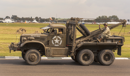 The World War II 75th commemorative parade at the 2014 Goodwood Revival, Sussex, UK.