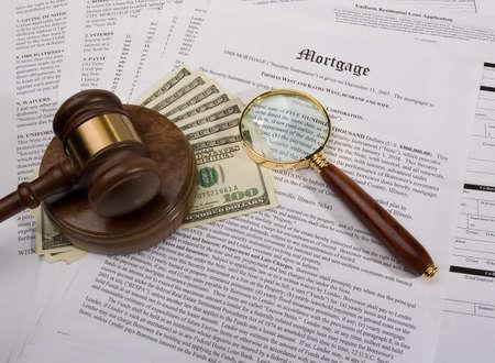 makler: Hypotheken-Untersuchung  Lizenzfreie Bilder