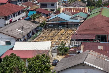 bird eye view in Kampung Baru Sungai Buloh, Selangor. Malaysia Stock Photo