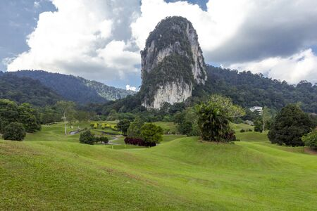 Nature scenery of mountain landscape background at Templer Park Rawang Malaysia.