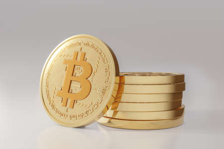crypto currency business. bitcoin coin finance concept isolated on white background