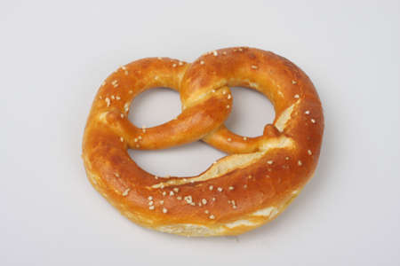 Tasty bread and pretzels.