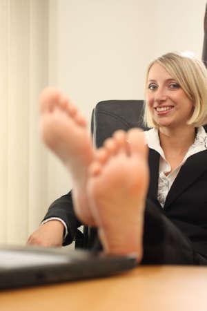Blonde Businesswoman Фото со стока