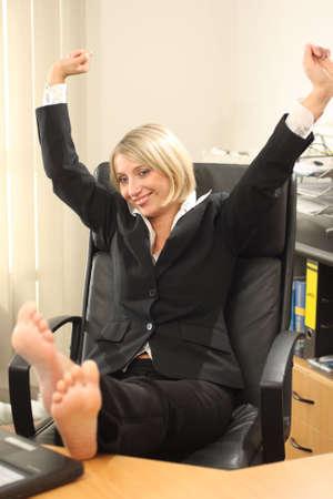 Blonde Businesswoman photo