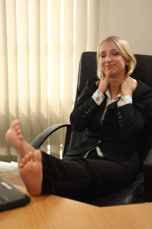 Blonde Businesswoman Stock fotó